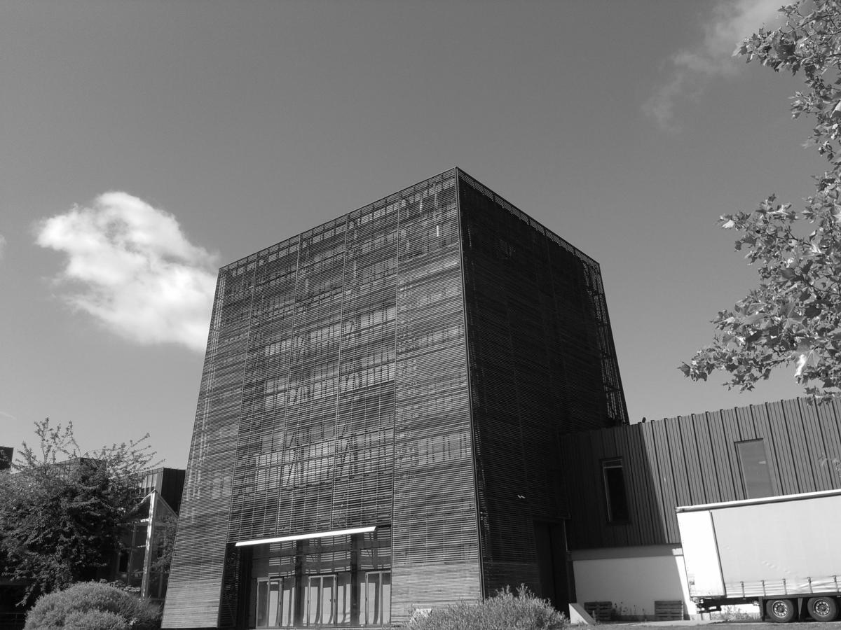 The backside of the Music Theater of Albertslund, a municipal cultural center.