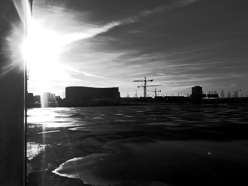 Sun Behind Royal Arena (Amager, Copenhagen) - In The Making